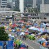 香港デモ(雨傘革命)現場の様子(2)